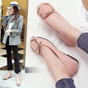 product 1507372424 32429325 ef30d45d4822349a7813477bd43c1046 product ซื้อที่ไหน สินสอดแต่งงานผู้หญิงหัวเข็มขัดขนาดใหญ่ส้นแบนตักรองเท้าแบนรองเท้า  สีชมพู