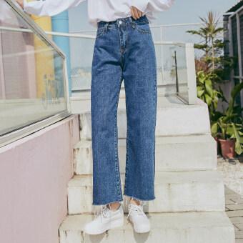 เกาหลีฤดูใบไม้ร่วงใหม่นักเรียนกางเกง (สีน้ำเงินเข้ม)