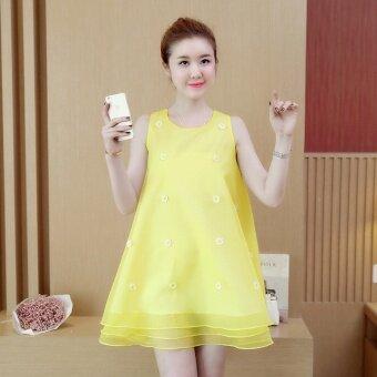 เวอร์ชั่นเกาหลีผอมกระโปรงนางฟ้า (สีเหลือง)