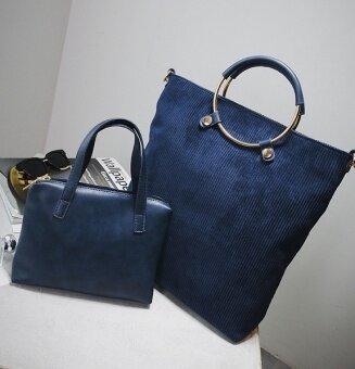 เกาหลีหญิงใหม่กระเป๋าสะพายกระเป๋าถือกระเป๋า (สีฟ้า)