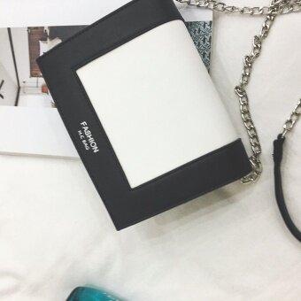 สี่เหลี่ยมเล็กหญิงใหม่ตีสีถุงห่วงโซ่ถุง (สีดำ) (สีดำ)