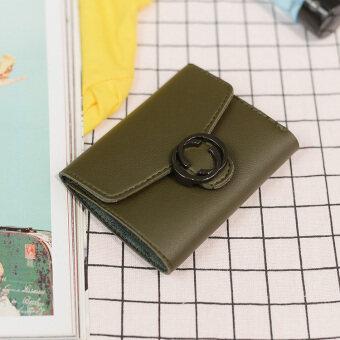 ย้อนยุคใหม่ย่อหน้าสั้นๆกระเป๋าสตางค์นางสาวกระเป๋าสตางค์ (สีเขียว)