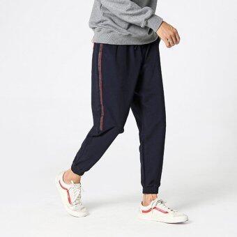 เกาหลีใหม่ของผู้ชายกางเกงผู้ชายกางเกง (สีน้ำเงินเข้ม)