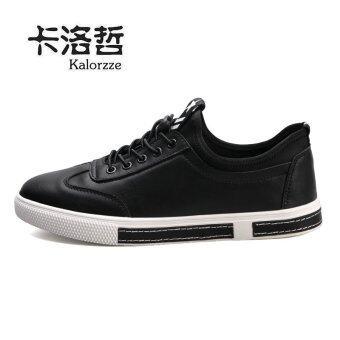 เกาหลีชายรองเท้าฤดูใบไม้ร่วงของผู้ชาย (ชายรุ่น + สีดำ)