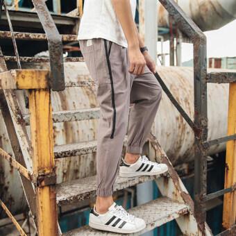 ญี่ปุ่นชายเพื่อเพิ่มรหัสเท้าถุงน่องกางเกงผ้าฝ้ายกางเกงลำลอง (สีเทาอ่อน)