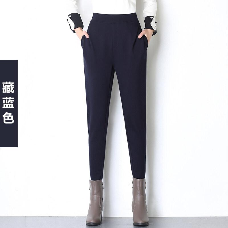 แฟชั่นฮาเร็มซากุระในฤดูใบไม้ร่วงกางเกงแครอทกางเกง (สีน้ำเงินเข้ม)
