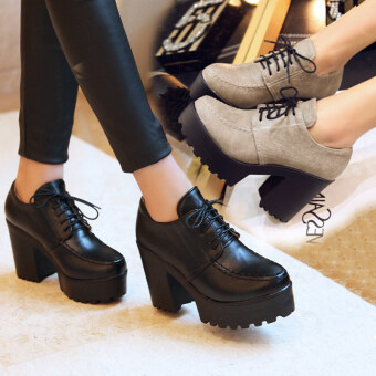 ขนาดเล็กสดหญิงใหม่หลาใหญ่รองเท้าส้นรองเท้า (สีเทา)