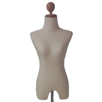 หุ่นผู้หญิง ขาไม้ โชว์เสื้อ สีคลีม