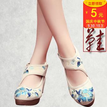 รองเท้าจีนรัดส้น สไตล์ย้อนยุค 2016 (สีเบจสี)