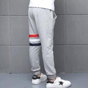Qizhef Boy's Sweatpants Pure Cotton Slacks Black - intl - 2
