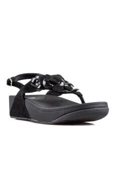 Quick Step รองเท้าเพื่อสุขภาพ รุ่นฟลาวเวอร์รัดส้น - สีดำ