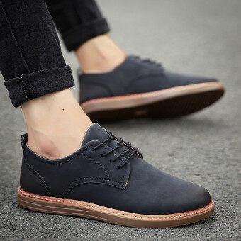 ใหม่ฤดูใบไม้ร่วงของผู้ชายรองเท้าลำลองรองเท้าชาย (R11 สีดำ)
