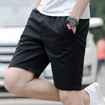 Remember The Five Summer Sports Pants Men's Casual Pants ShortsLovers Summer Beach Pants (Black) - intl