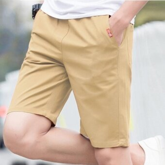 Remember The Five Summer Sports Pants Men's Casual Pants ShortsLovers Summer Beach Pants (Khaki) - intl
