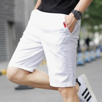 Remember The Five Summer Sports Pants Men's Casual Pants ShortsLovers Summer Beach Pants (White) - intl