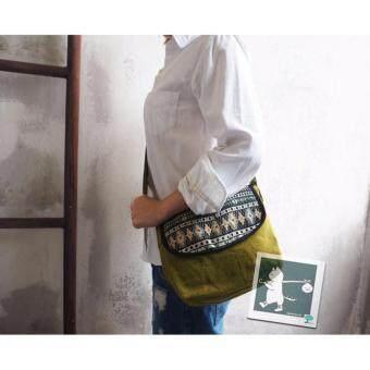 อยากขาย RINLIN Handmade Mini Crossbody Unisex Light Green Vintage Shoulder Summer Bag กระเป๋าผ้าฝ้าย มินิ แฟชั่น ชาวเขา แฮนด์เมด สะพายข้าง สะพายไหล่ พาดลำตัว สีเขียวอ่อน