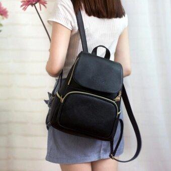 ประกาศขาย กระเป๋าสะพายหลัง กระเป๋าแฟชั่น ผู้หญิงกระเป๋าเป้เกาหลี รุ่น RP-131(สีดำ)