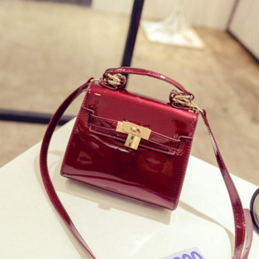 RockLife กระเป๋า กระเป๋าถือ กระเป๋าสะพายไหล่ Shinning PU Women Bag - R1112S Red