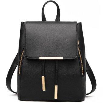 RockLife Women Backpack กระเป๋าสะพาย กระเป๋าเป้สะพายหลัง - Black