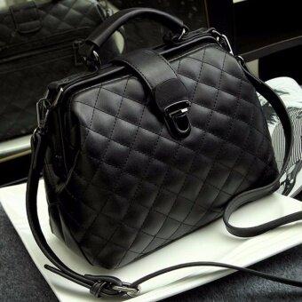 RockLife Women High Quality Leather Handbag กระเป๋าถือ กระเป๋าสะพายไหล่ กระเป๋าสะพายพาดลำตัว - R1139 Black