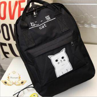 Ruyuan กระเป๋า กระเป๋าเป้ กระเป๋าสะพายหลัง Backpack รุ่น No.02228 -Black