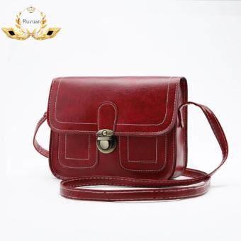 ระเป๋า กระเป๋าสะพาย กระเป๋าสะพายพาดลำตัว Women Shoulder bag- No.02242Red