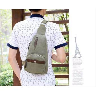 เปรียบเทียบราคา SABAI กระเป๋าสะพายข้าง กระเป๋าคาดอก กระเป๋าชาย-หญิง SB2210 สีเขียว