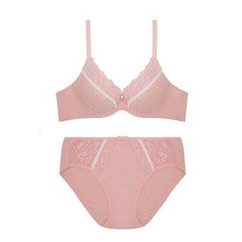 Sabina เซ็ทชุดชั้นในกางเกงชั้นใน ลายลูกไม้ รุ่น SBI516 SUI516 (Pink)