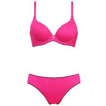 Sabina เซ็ทชุดชั้นในกางเกงชั้นใน สีพื้น รุ่น SBI558 SUI558 (Pink/Black)