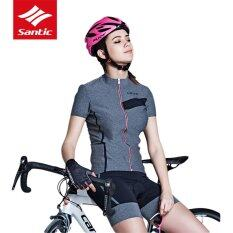 Santic New Summer Women City Leisure Series Cycling Jersey Breathable Moisture-wicking Short Sleeve Bike Bicycle Tops Clothes - intl