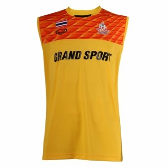 แกรนด์สปอร์ต เสื้อกีฬา ซ้อม Sea Games 2017แขนกุด(สีเหลือง)