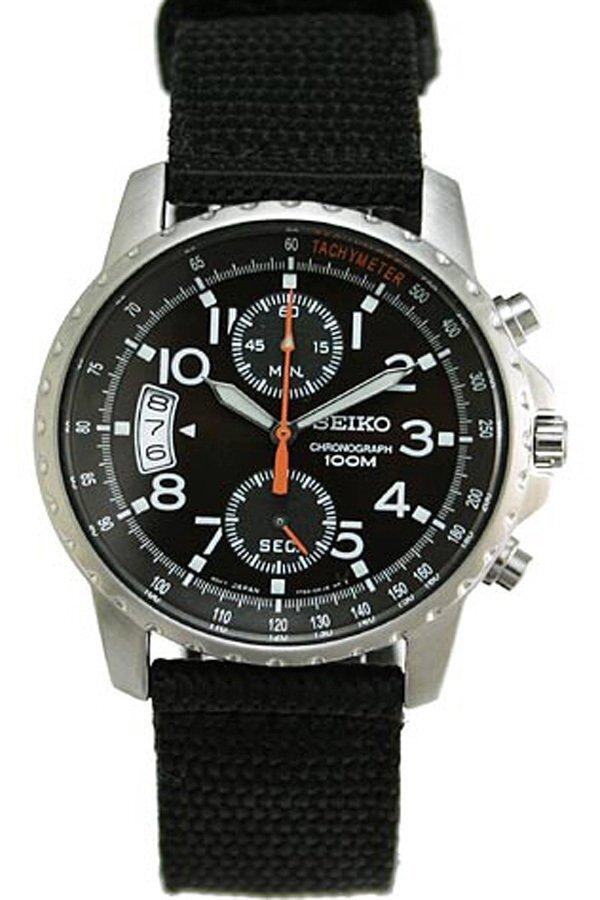 การใช้งาน  เชียงใหม่ Seiko Tachymeter Chronograph นาฬิกาข้อมือผู้ชาย สีดำ สายผ้า รุ่น SNN079P2