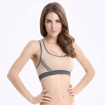 Harga Sexy Women Padded Sports Yoga Bra Top Vest Gym Fitness nude - Intl