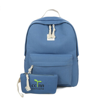 Shishang ผ้าใบกระเป๋าสะพายนักเรียนหญิงกระเป๋านักเรียน (ขนาดใหญ่สีฟ้า)