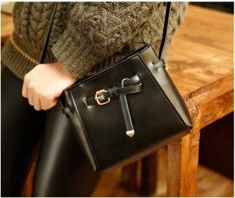 สี่เหลี่ยมเล็กๆ Shishang กระเป๋าสะพายกระเป๋า Shishang กระเป๋าถือ (สีดำ)