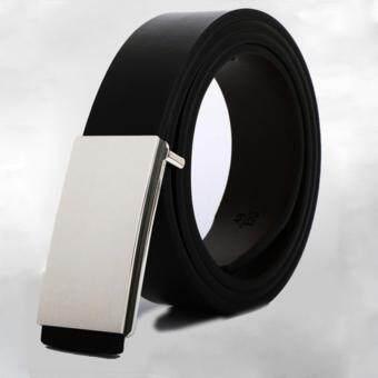 Siamcity mall เข็มขัดถอดสลับ 2 สี เข็มขัดหนังแท้ เข็มขัดผู้ชาย เข็มขัดหนังแท้ผู้ชาย สลับ 2 สี สีดำ/สีน้ำตาล - Men's genuine leather black/brown belt