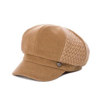 หมวกไหมพรมผู้หญิงสไตล์เกาหลี ยี่ห้อ Siggi (อูฐ)