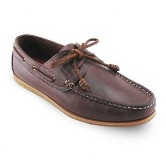 Harga รองเท้าหนังแท้ Signature Boat Shoes Oil Leather Brandy Brown