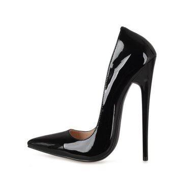 Size 38-44 Dress Club Wedding Shoes Extreme High Heels 16cm Shoes for Women / Men Pumps Valentine Shoes Sexy Pumps Black - intl