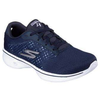 SKECHERS WOMEN รองเท้าผ้าใบ ผู้หญิง รุ่น GO WALK 4 -EXCEED -14146NVW (NAVY/WHITE)