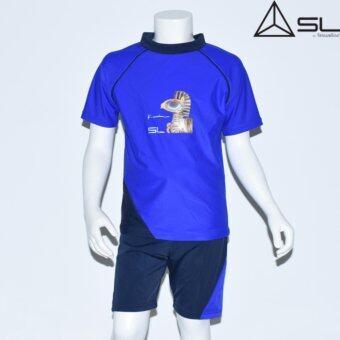 2561 SL Streamline ชุดว่ายน้ำเด็ก เสื้อแขนยาว กางเกงขาสั้น สีน้ำเงิน Size 4 (สูง 140ซม.)