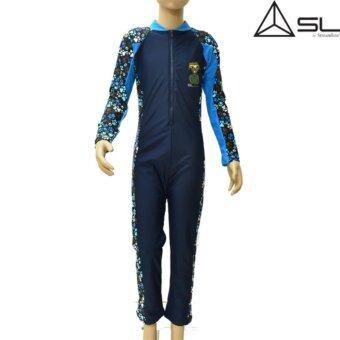 ประเทศไทย SL Streamline ชุดว่ายน้ำเด็กซันสกรีน SL STREAMLINE (KAMIN S COLLECTION) 1ชิ้น เสื้อแขนยาว กางเกงขายาว สีกรม Size 2 (สูง 120ซม.)