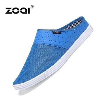 Harga Slip-Ons & Loafers ZOQI Men's Fashion Casual Shoes(Blue) - intl
