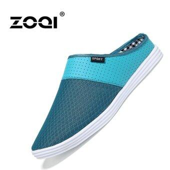 Harga Slip-Ons & Loafers ZOQI Men's Fashion Casual Shoes(Green) -intl