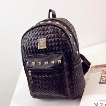 Harga Small Target กระเป๋า กระเป๋าเป้ กระเป๋าสะพายหลังสีดำ Woman BackpackNo.0-4(Black)