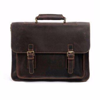 กระเป๋าสะพายข้าง กระเป๋าถือ กระเป๋าใส่เอกสารแล็ปท๊อปขนาด 15 นิ้ว หนังแท้ SPC16-1