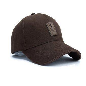 แฟชั่นหมวกเบสบอลกีฬากอล์ฟเพศ Snapbackกลางแจ้งหมวกแข็งธรรมดาสำหรับมนุษย์กระดูก (สีน้ำตาล)