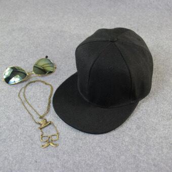 เพศชายเป็นฮิพฮอพปรับได้ใส่หมวกหมวกเบสบอล Snapback สีดำ (image 2)