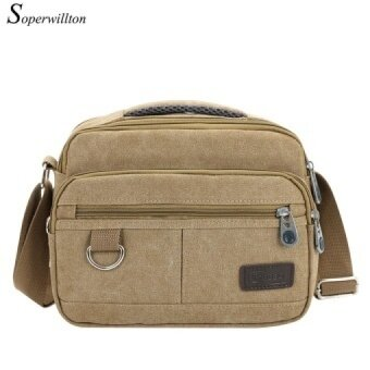 Soperwillton New New Style Hot Sale Men's Messenger Bags Solid Canvas Male Casual Shoulder Bag Famous Brand Design Man Bags J521 - intl