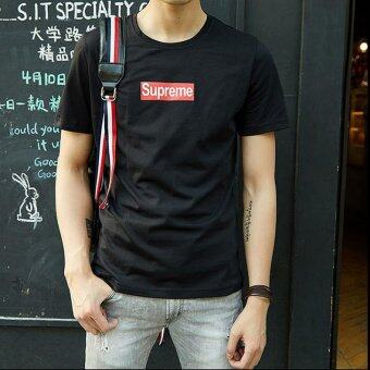 Harga Southeast Korea Korean fashion SUPREME short sleeved T-shirt - intl